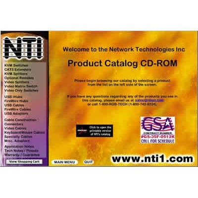 Network Technologies' 2001 CD-ROM Catalog Features Easy-to-Use Tool to Configure KVM Solutions