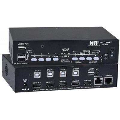 NTI Adds an HDMI Multiviewer with Built-In USB KVM Switch to Its Product Line