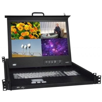 NTI Now Offering Rackmount KVM Drawer with Integrated HDMI Multiviewer & USB KVM Switch
