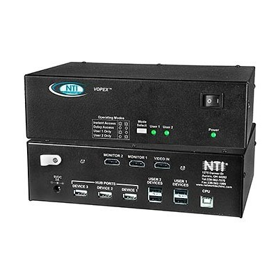 NTI Introduces 2- and 4-Port VOPEX® HDMI/DVI USB KVM Splitters