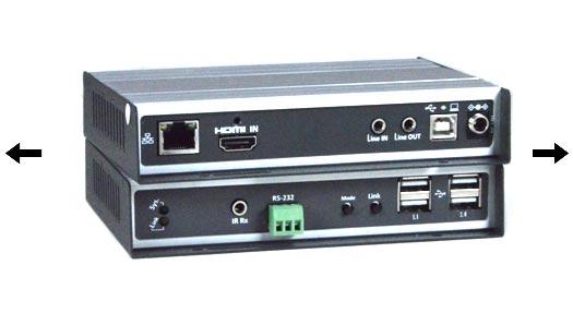 4K HDMI USB KVM Over IP Extender Video Wall 4Kx2K UHD Ethernet