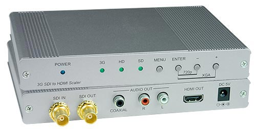 3G-SDI to HDMI with Audio Converter Scaler