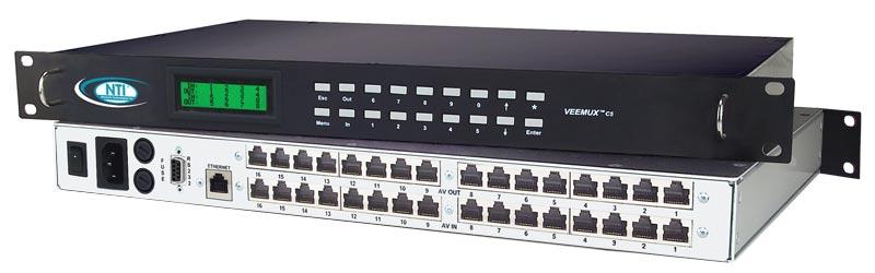 vga video audio matrix switch cat5 remote monitors router rj45sm 16x16 c5av lcd \u2013 vga video audio matrix switch via cat5