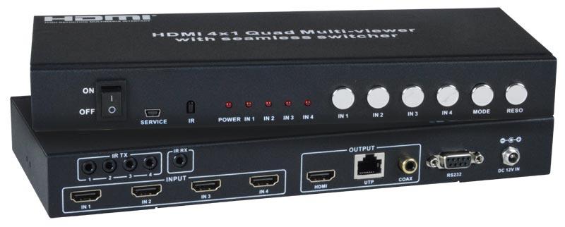SPLITMUX-C5HDR-4LC - Low-Cost HDMI Quad Screen Splitter/Multiviewer/ ...