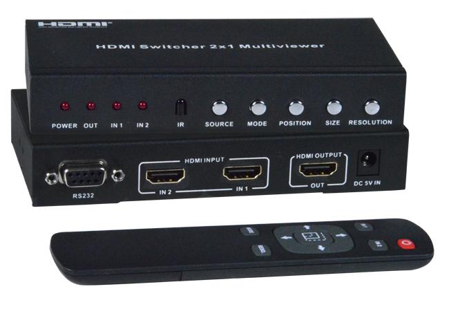 Dual Screen Splitter Multiviewer HDMI Simultaneous Single Screen