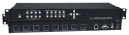 SPLITMUX-4X4-HDVWC – 4x4 HDMI Multiviewer / Video Matrix Switch / Video Wall Processor
