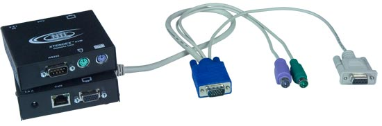 ST-C5KVMRS-600 - VGA PS/2 KVM Extender with RS232 Control via CAT5: Extend to 600 Feet