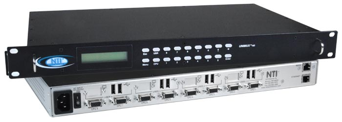 USB KVM Audio Matrix Switch Touch Screen Monitor CAC Reader