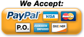 We Accept PayPal Visa MasterCard Discover American Express Purchase Order