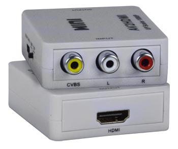 Low-Cost Composite Video + Audio to HDMI Converter