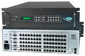SM-16X64-C5AV-1000 Audio/Video Matrix Switch via CAT5 to 1,000 Feet: 16x16 to 16x64