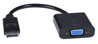 Male DisplayPort to Female VGA Adapter Cable