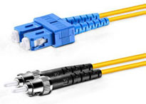 ST-SC Duplex Multimode Fiber Patch Cables, 50-Micron
