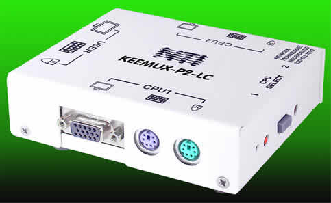 PC Switch, KEEMUX-P2-LC 2 Port PS/2 KVM Switch Box