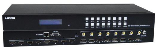 Low-Cost 4K HDMI Video Matrix Switch: 8x8