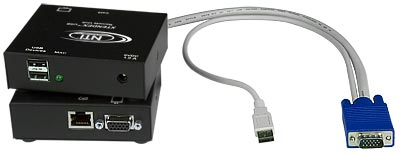 Extend USB keyboard, USB mouse and VGA monitor up to 300 feet.