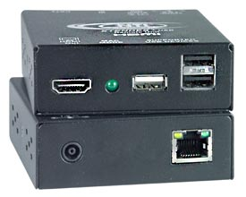HDMI USB KVM Extender with Additional USB Port Option - Extend signal up to 300 feet
