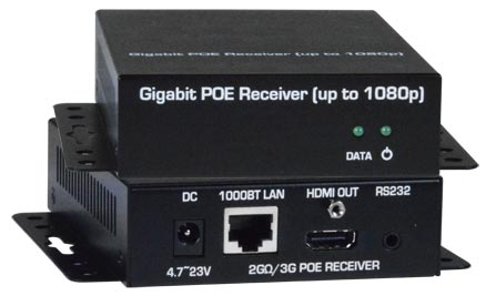 HDMI Over Gigabit IP Extender with Power over Ethernet (POE)