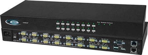 High Density VGA USB KVM Switch, with USB Peripheral Port Option - UNIMUX-USBV-xHDU