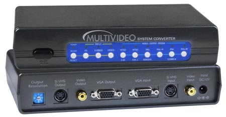 Composite to Video S-video POWER SCAN II TV SCAN CONVERTER PC VGA