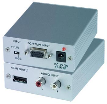 VGA/Component Video to HDMI Converter