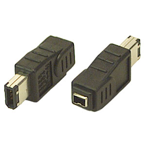 FireWire 1394 4 Pin Female 6 Pin Male Adapter Converter Connector