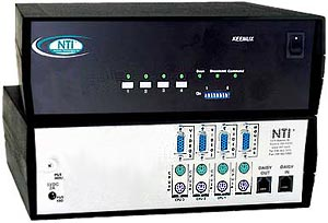 4 port PS/2 KVM Switch with OSD and RS232 Control, rackmount