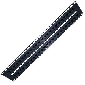 CAT6a 2RU High Density Patch Panels loaded couplers, 48 port