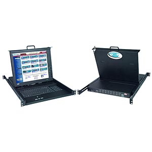 17 in. TFT/LCD DVI KVM drawer with High Density USB DVI KVM switch, touchpad