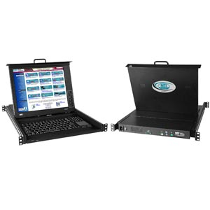 USB + PS/2 KVM Drawer, Liquidproof/Spillproof Keyboard, 17 in. LCD
