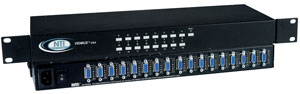 16 port VGA switch, RS232 Control and rackmount options