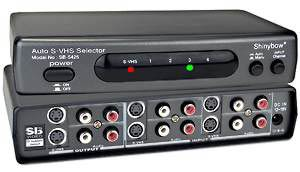 S-Video Audio Switch, S-Video DVD VCR TV monitor home theater switcher, 4 port