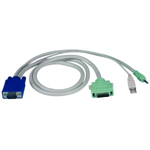 VGA High Density cable to USB KVM & Speakers from Local or Remote Extender Module, 3 feet
