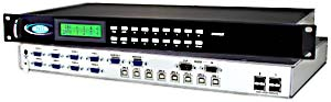 2 user & 16 computer USB KVM switch, rackmounted