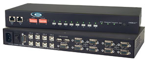8 port USB KVM switch, with OSD and rackmount kit, audio
