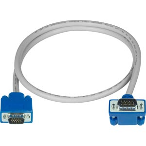 Up Angled to Straight VGA cable, male-to-male, 15 feet