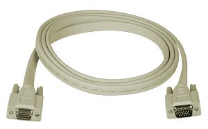 Flat VGA cable, male-to-female, 10 feet